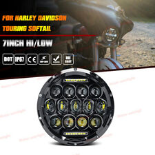 "For Harley Electra / Street Glide / Road King 7"" LED Projector Headlight Hi/Low"