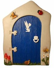 BRAND NEW LARGE FAIRY BLUE ANIMATED DOOR GARDEN ORNAMENT FAIRIES/PIXIES