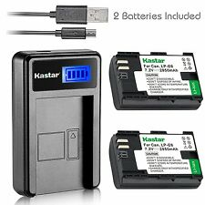Lpe6 Battery & Lcd Slim Charger for Canon Eos 5Ds, 5Ds R,5D Mark Ii,5D Mark Iii