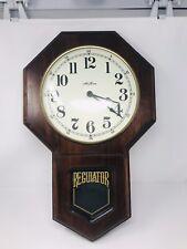 Seth Thomas Regulator Wall Clock Missing Pendulum ,Clock Works ,Sold As Is