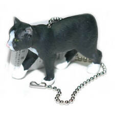 BLACK MANX CAT CEILING FAN PULL (FP078)