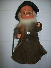 Vintage Old Man Beard & Glasses Wind up Music and Motion Metal & Plastic