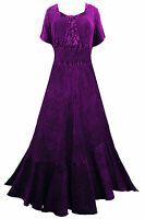 LONG purple MEDIEVAL PRINCESS DRESS 12 14 16 18 20 22 24 26 28 30 32 plus size