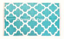 Indian 3x5 Ft 100% Cotton Handmade Multi Color Block Print Area  Carpet Rug