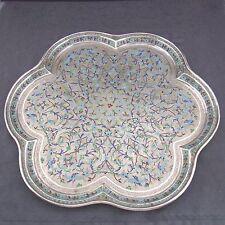 schönes altes Tablett Silber Emaille persisch/arabisch signiert