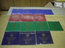 14 Blister, 70 Stück x 10 DM 925/Silber PP, 1998/2001 A D F G J kpl., 1 KG Fein