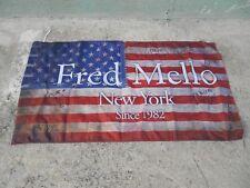 FRED MELLO - SINCE 1982 - BANDIERA AMERICANA USA 70X130 - STOFFA - PUBBLICITARIA