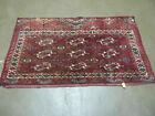 2.5' X 4' Antique Hand Made Bokhara Turkoman Yamud  Wool Rug Kilim Backing  NICE