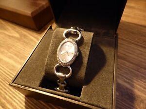 Ladies Gucci Tornabuoni diamond encrusted watch, bracelet, 44 diamonds, boxed