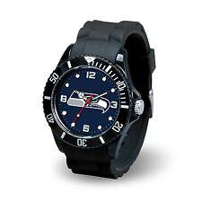 Seattle Seahawks NFL Football Team Men's Black Sparo Spirit Watch