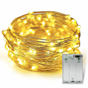 2/5/10PCS LED Battery Micro Rice Wire Copper Fairy String Lights Party Decor