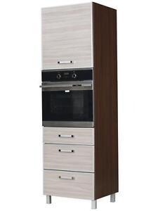 Küchen Hochschrank Hochschrank für Backofen OLA (KOZPW) Holz: Latte