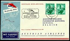 AUSTRIA, FIRST FLY COVER, WIEN - BRÜSSEL 2, YEAR 1959, AUSTRIAN AIRLINES