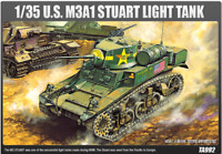 Academy 1/35 Plastic Model Kit M3A1 Stuart Light Tank #13269