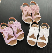Kid Shoes Flat Heels Party Dress Shoes Summer Big Bow Girls Baby Beach Sandals