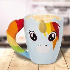 Rainbow Unicorn Shaped Mug Coffee Cup Unicorns Gift