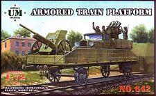 UMmt 1/72 642 WWII Soviet Armored Train Platform w/AT MG on GAZ-AA & 45mm AT Gun