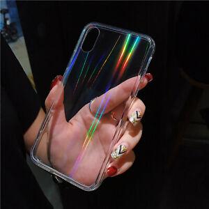 Iphone 12 Mini Pro Max Handyhülle Regenbogen glänzend Transparent Schutzhülle
