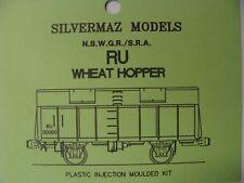 "RU Wagon Kit- HO ""Silvermaz Model Railways"" NSWGR 4 WHEEL WHEAT WAGON"