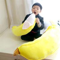 Huge Big Yellow Banana Plush Soft Pillow Stuffed Fruit Toys Cushion Gift 39'' US