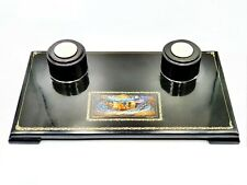Vintage Inkstand Russian Lacquer Miniature DEVILS MSTERA USSR 1953