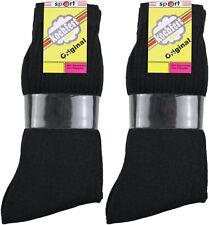 10 Paar Herren Sport Tennis Socken schwarz 90%Baumwolle Größe  43/46