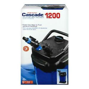 Cascade 150 Gal Aquarium Canister Filter 1200 Crystal Clear Water Fresh & Marine