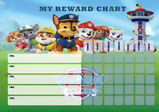 Personalised kids reward chart with magnetic strip + stickers + marker