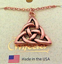 "Copper Pendant Triangle 18"" Chain Necklace Wheeler Healing Arthritis Pain CN 163"