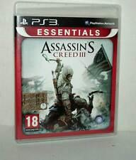 ASSASSIN'S CREED III GIOCO USATO BUONO SONY PS3 EDIZIONE ITALIANA PAL ML3 44362