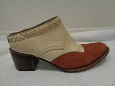 FREEBIRD By Steven Prisn Leather Mules Clogs SZ 10