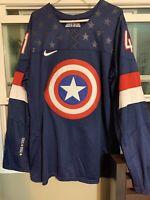 iihf hockey jersey CAPTAIN AMERICA JERSEY NICE SIZE MEDIUM Super Rare.