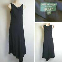 Marilyn Anselm Hobbs Vintage 90's Black Sleeveless Long Fishtail Dress size 8 D3