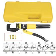10 Ton Hydraulic Crimper Dies Crimping Tool Hose Battery Cable Wire Lug Terminal