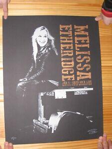 Melissa Etheridge Poster Silk Screen Signed Numbered Hard Rock January 11