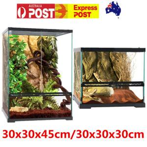 Reptile Terrarium Cage Lizard Enclosure Snake Spider Scorpion Frog Habitat OZ