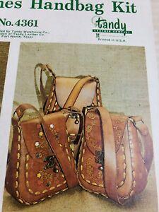 Vintage Tandy Leather Purse Set Kit #4361 Leisure Times  Handbag Kit