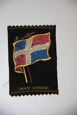Vintage woven tobacco cigarette silk - Santo Domingo flag