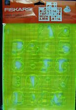 FISKARS LETTERS 1 SHAPE TEMPLATE STENCIL ALPHABET AND NUMBERS 03-008511