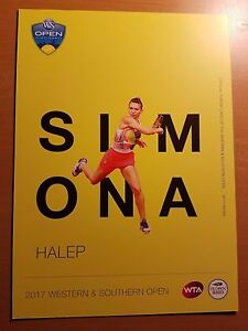 SIMONA HALEP - 2017 Western & Southern ATP Tennis 5 x 7 Player Card