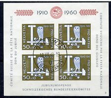 Weeda Switzerland B297 VF SON Oberwil cancel used 1960 imperf sheet of 4 CV $20