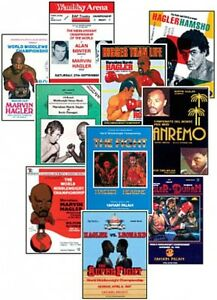 Marvellous Marvin Hagler Program Cover Trading Card Set FREE UK POSTAGE