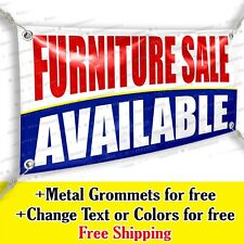 Furniture Sale Available Custom Vinyl Banner Advertising Sign Bicolor