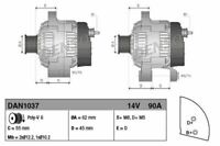 DENSO ALTERNATOR FOR A FIAT MAREA ESTATE 1.8 83KW
