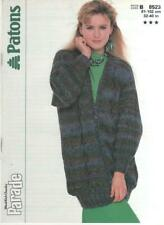 Vintage Patons Knitting Pattern No 8523 Jacket   in Chunky Size  32 - 40 in
