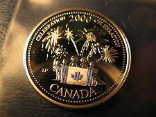 CANADA 2000 CELEBRATION SILVER 25 CENT FROM MINT SET BEAUTY!