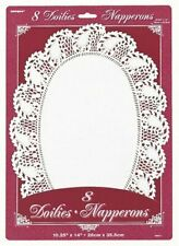 Unique Party 6811 - Oval White Paper Doilies Pack of 8