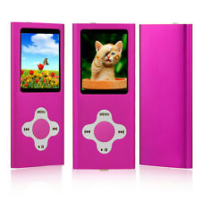 MP3 Player Music Media 8GB With Radio, Voice Recorder, Games 4th Generation Pink