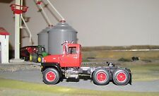 1/64 DCP 838 Red Ford Louisville LN9000 Semi Cab w/ Black Fenders