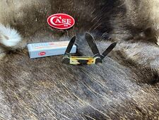 1987 Case 53131 3 Blade Canoe Knife Fat Stag Handles Mint In Box - Factory Error